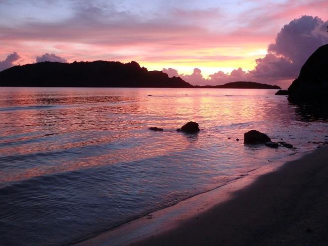 Sunset postcard.