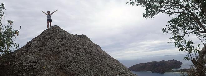 Hiking the island.